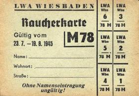 Raucherkarte für Männer 1945 (1-)