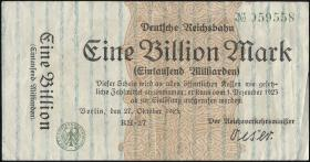Reichsbahn Berlin 1 Billion Mark 1923 (3)