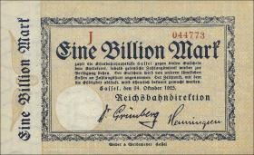 Reichsbahn Kassel 1 Billion Mark 1923 (1)
