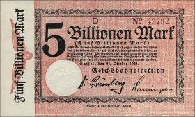 Reichsbahn Kassel 5 Billionen Mark 1923 (1)