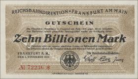 Reichsbahn Frankfurt 10 Billionen Mark 1923 (1)