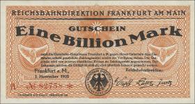 Reichsbahn Frankfurt 1 Billion Mark 1923 (1)