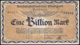 Reichsbahn Stuttgart 1 Billion Mark 1923 (3)
