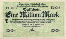 PS1266 Reichsbahn Karlsruhe 1 Million Mark 1923 (3)