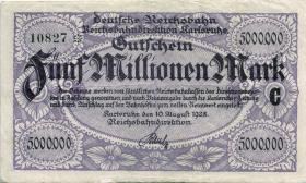 PS1268 Reichsbahn Karlsruhe 5 Millionen Mark 1923 (3)