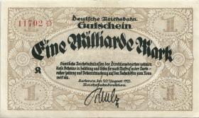PS1271 Reichsbahn Karlsruhe 1 Milliarde Mark 1923 (3)