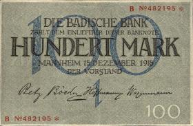 R-BAD 06: 100 Mark 1918 (2+)