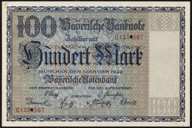 R-BAY 04D: 100 Reichsmark 1922 Druckprobe (1)