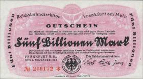 Reichsbahn Frankfurt 5 Billionen Mark 1923 (1)