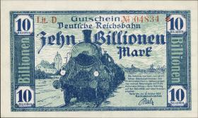 Reichsbahn Karlsruhe 10 Billionen Mark 1923 (1)