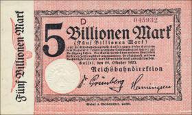 Reichsbahn Kassel 5 Billionen Mark 1923 ohne No. (1)