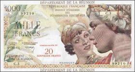 Reunion P.55b 20 Neue Francs auf 1000 Francs (1971) (1)