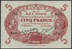 Reunion P.14 5 Francs (1912-1944) (2/1)