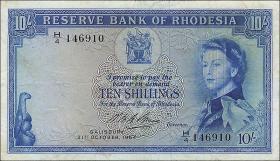 Rhodesien / Rhodesia P.24 10 Shillings 1964 (3)
