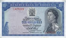 Rhodesien / Rhodesia P.27b 10 Shillings 1968 (1/1-)