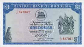 Rhodesien / Rhodesia P.30j 1 Dollar 2.9.1974 (1/1-)