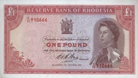 Rhodesien / Rhodesia P.28d 1 Pound 1968 (1)