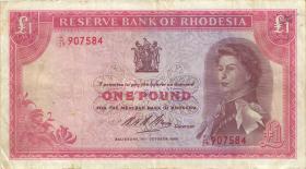 Rhodesien / Rhodesia P.28d 1 Pound 1968 (3)