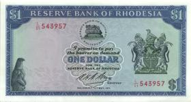 Rhodesien / Rhodesia P.30c 1 Dollar 14.5.1971 (1/1-)