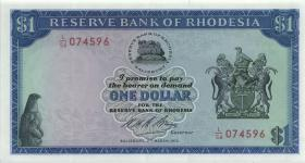 Rhodesien / Rhodesia P.30h 1 Dollar 2.3.1973 (1)