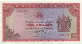 Rhodesien / Rhodesia P.31k 2 Dollars 7.4.1975 (1)