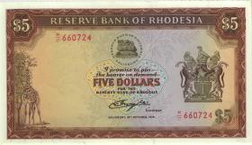 Rhodesien / Rhodesia P.32b 5 Dollars 1978 (1)
