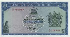 Rhodesien / Rhodesia P.34a 1 Dollar 1.3.1976 (1)