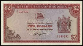 Rhodesien / Rhodesia P.35dr 2 Dollars 10.4.1979 x/1 (1)