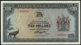 Rhodesien / Rhodesia P.41r 10 Dollars 2.1.1979 Z/1 (1)