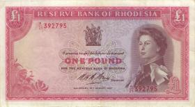 Rhodesien / Rhodesia P.28b 1 Pound 28.8.1967 (3)