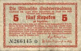 Lettland / Latvia LE 38a : 5 Kopeken 1915 Mitau (3)