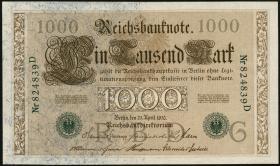 R.046a 1000 Mark 1910 grün 6-stellig (1/1-)