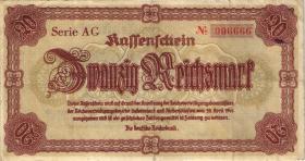 R.186: 20 Reichsmark 1945 Notausgabe Sudetenland (3)