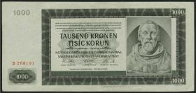 R.566a: Böhmen & Mähren 1000 Kronen 1942 (2)
