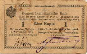 R.916q: Deutsch-Ostafrika 1 Rupie 1915 A2 (1-)