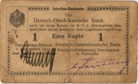 R.916q: Deutsch-Ostafrika 1 Rupie 1915 A2 SN:50635 (3)