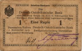 R.916r: Deutsch-Ostafrika 1 Rupie 1915 B2 SN:46643 (2)