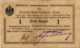 R.916r: Deutsch-Ostafrika 1 Rupie 1915 B2 SN:92983 (2)