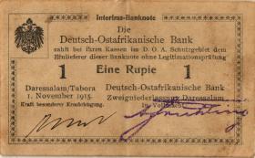 R.916s: Deutsch-Ostafrika 1 Rupie 1915 C2 (3)