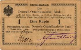 R.916s: Deutsch-Ostafrika 1 Rupie 1915 C2 SN:51097 (2)