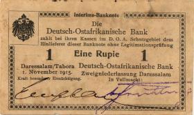 R.916u: Deutsch-Ostafrika 1 Rupie 1915 E2 SN:42943 (1-)