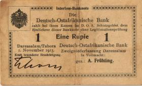 R.918e: Deutsch-Ostafrika 1 Rupie 1915 G (3)