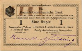 R.928c: Deutsch-Ostafrika 1 Rupie 1916 H2 (1-)