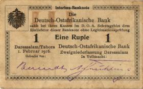 R.928d: Deutsch-Ostafrika 1 Rupie 1916 J2 (1-)