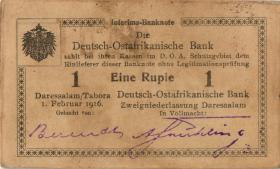 R.928k: Deutsch-Ostafrika 1 Rupie 1916 Q2 (2)