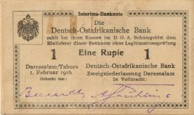 R.928u: Deutsch-Ostafrika 1 Rupie 1916 A3 (1-)