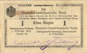R.928w: Deutsch-Ostafrika 1 Rupie 1916 C3 (1-)