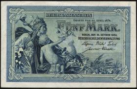 R.022a: 5 Mark 1904 (1-)