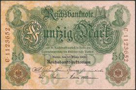 R.025b 50 Mark 1906 7-stellig (3/2)