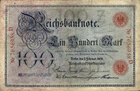 R.033a: 100 Mark 1908 Vorkriegsausgabe (3)